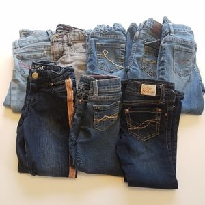 Girl's Size 4T Lot of 8 Skinny Bootcut Jeans